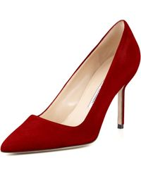 Manolo Blahnik Bb Suede 90Mm Pump - Lyst