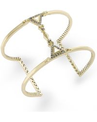 House Of Harlow Gold-tone Crystal Cuff Bracelet - Lyst