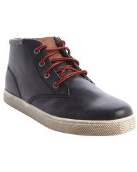 Sneaky Steve Black Leather 'Camden' Lace Up Boots - Lyst