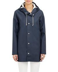 Stutterheim Blue Stockholm Raincoat - Lyst