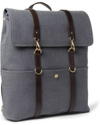 Mismo Leathertrimmed Cottoncanvas Backpack - Lyst