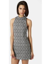 Topshop Funnel Neck Tunic Dress - Lyst