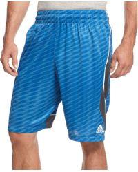 Adidas Fastbreak Wave Drawstring Shorts - Lyst