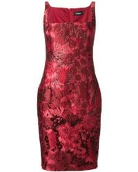 DSquared2 Flower Jacquard Cocktail Dress - Lyst