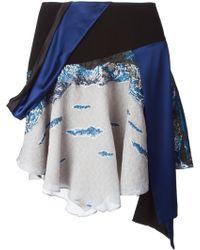 Prabal Gurung Embroidered Asymmetric Skirt - Lyst