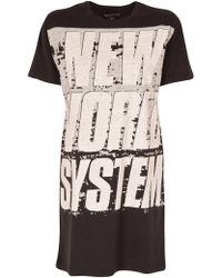 Marc By Marc Jacobs New World T-Shirt Dress - Lyst