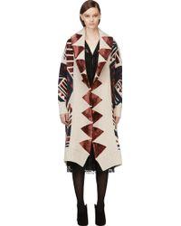 Burberry Prorsum  Geometric Jacquard Blanket Coat - Lyst