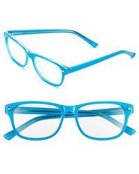 Corinne Mccormack - Corrine Mccormack 'addison' 52mm Reading Glasses - Turquoise - Lyst
