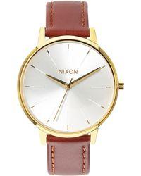 Nixon - Women's The Kensington Leather Strap Watch - Lyst