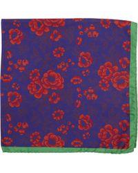 Duchamp Floral Print Pocket Square - Lyst