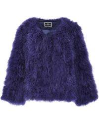 Helen Yarmak International | Purple Marabou Feather Jacket | Lyst