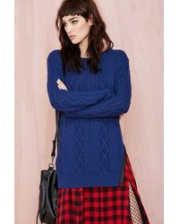 Nasty Gal Choose Sides Sweater - Lyst