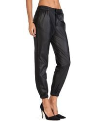 Thakoon Addition - Perforated Leather Joggers - Lyst