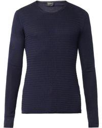 Jil Sander Fine-Knit Silk Sweater - Lyst