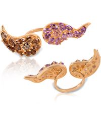 Vara Of London - Le Boteh Ring Gold - Lyst