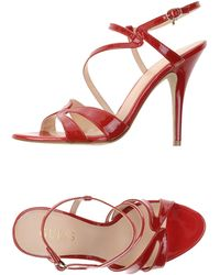 Guess Sandals red - Lyst