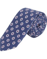 Barneys New York Floral Medallion Tie - Lyst