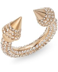 Vita Fede Titan Allover Crystal Spike Ring/Rose Goldtone - Lyst