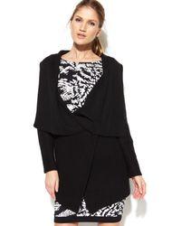 Calvin Klein Oversize Collar Sweater Coat - Lyst