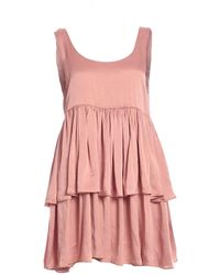 Kelly Shaw - Diotima Dress In Sandwashed Dusty Rose Silk - Lyst