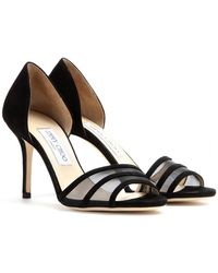 Jimmy Choo Vexil Suede Sandals - Lyst