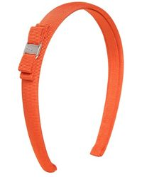 Ferragamo Orange Grosgrain Headband - Lyst