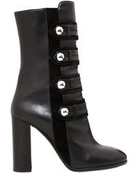 Isabel Marant - 100mm Arnie Suede & Leather Boots - Lyst