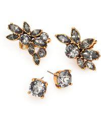 Oscar de la Renta Crystal Ear Cuffs & Stud Earrings Set - Lyst