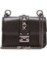 Valentino Noir Micro Mini Lock - Lyst