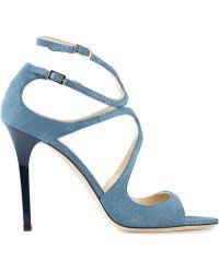 Jimmy Choo Blue Lang Sandals - Lyst