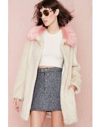 Nasty Gal Unreal Fur Candy Blossom Coat - Lyst