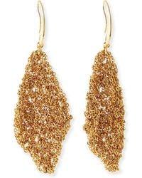 Diane von Furstenberg - Thea Mesh Drape Earrings - Lyst