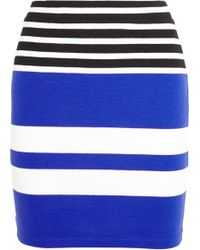 T By Alexander Wang Striped Stretch-Cotton Jersey Mini Skirt - Lyst