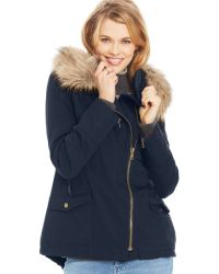 American Rag Hooded Parka Coat - Lyst