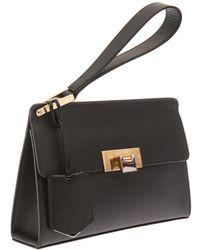 Balenciaga Le Dix Pochette Leather Clutch - Lyst