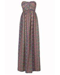 Paul & Joe Muse Print Strapless Maxi Dress - Lyst