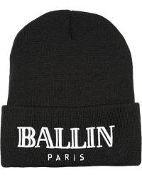 Brian Lichtenberg Ballin Embroidered Knitted Beanie - Lyst