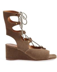 Chloé - 'foster' Wedge Sandals - Lyst