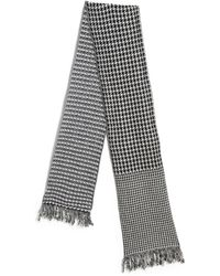 Stella McCartney Houndstooth Wool Scarf - Lyst