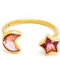 Marie-hélène De Taillac - 18kt Rose Gold Duet Ring - Lyst