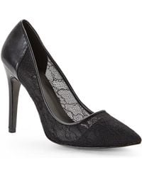 Charles By Charles David Black Peace Lace Pumps - Lyst