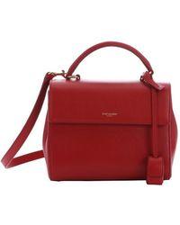 Saint Laurent - Lipstick Red Leather Small 'Moujik' Convertible Box Satchel - Lyst