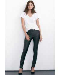 Velvet By Graham & Spencer Michonne Faux Leather Panel Moto Leggings black - Lyst