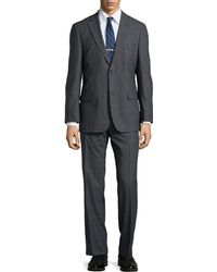 Hugo Boss Paolini Windowpane Check Suit - Lyst