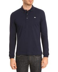 Lacoste Ph517c Ml Slimfit Elastane Navy Polo - Lyst