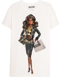 Moschino - Barbietm-print Cotton-jersey T-shirt - Lyst