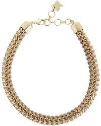 BCBGMAXAZRIA Woven Box-chain Necklace - Lyst