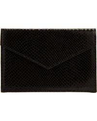 Barneys New York | Python Embossed Medium Envelope | Lyst