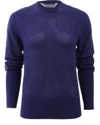Reed Krakoff Sweater With Leather Stripe - Lyst
