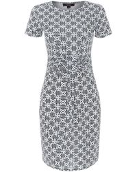 Therapy Tile Print Wrap Dress - Lyst